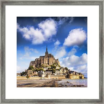Mont St Michel Normandy France Framed Print