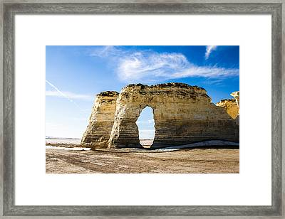 Monument Rocks Of Kansas Framed Print