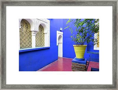 Morocco, Marrakech, Jacques Majorelle Framed Print
