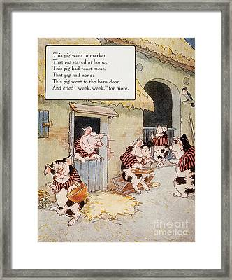 Mother Goose, 1915 Framed Print