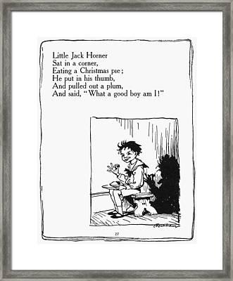 Mother Goose Jack Horner Framed Print by Granger