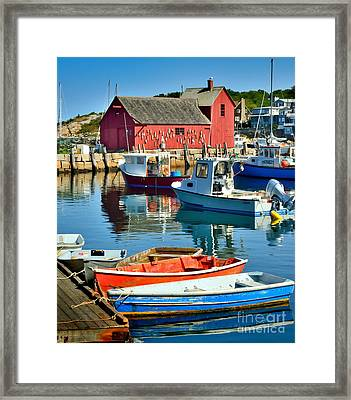 Motif Number One Rockport Lobster Shack Maritime Framed Print