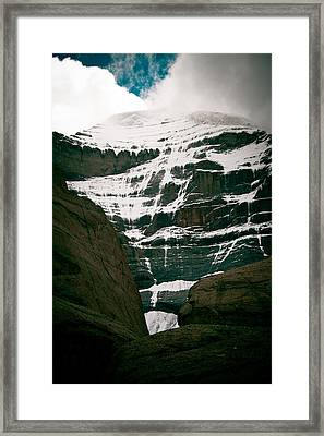 Mount Kailash Western Slope Home Of The Lord Shiva Framed Print by Raimond Klavins