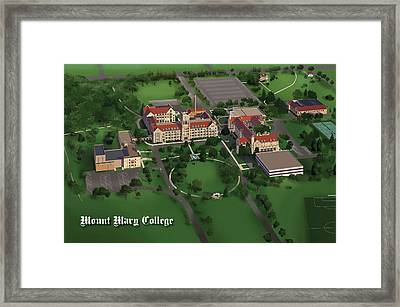 Mount Mary College  Framed Print by Rhett and Sherry  Erb
