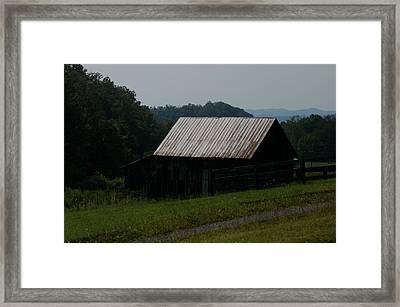 Mountain Barn Framed Print