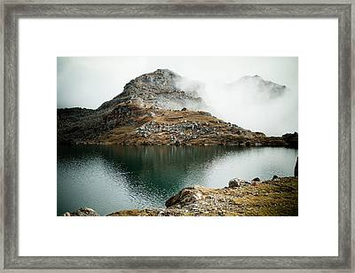 Mountain Lake Gosaikunda Himalayas Framed Print by Raimond Klavins