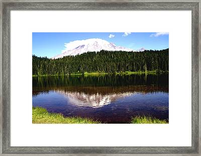 Mt Rainier Framed Print by Jerry Cahill