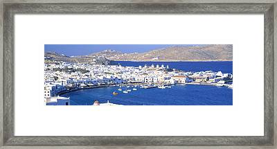 Mykonos, Cyclades, Greece Framed Print by Panoramic Images