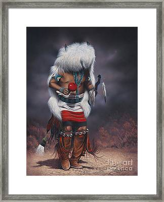 Mystic Dancer Framed Print by Ricardo Chavez-Mendez