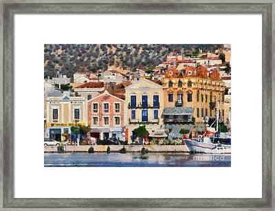 Mytilini Port Framed Print