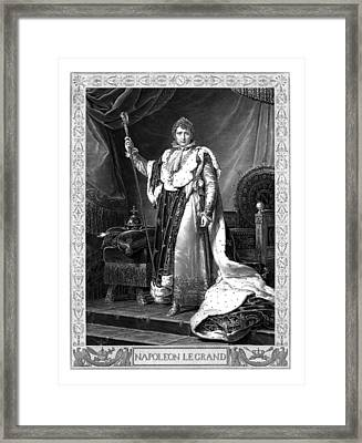 Napoleon Bonaparte Framed Print by War Is Hell Store
