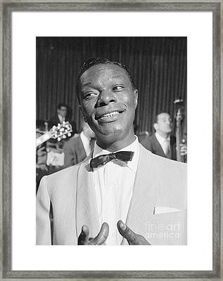 Nat King Cole 1954 Framed Print by The Harrington Collection
