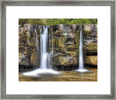 Natural Dam Falls Framed Print by Twenty Two North Photography