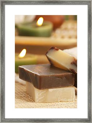 Natural Soaps Framed Print by Mythja  Photography