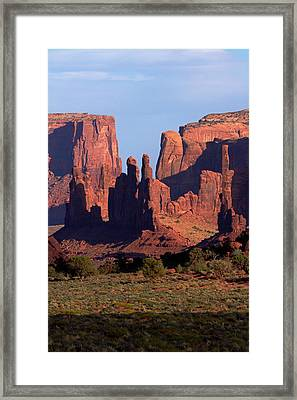 Navajo Nation, Monument Valley, Yei Bi Framed Print by David Wall