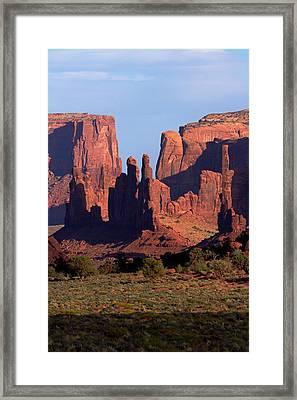 Navajo Nation, Monument Valley, Yei Bi Framed Print