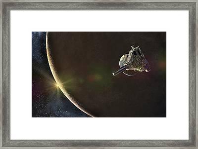 New Horizons At Pluto Framed Print by Take 27 Ltd