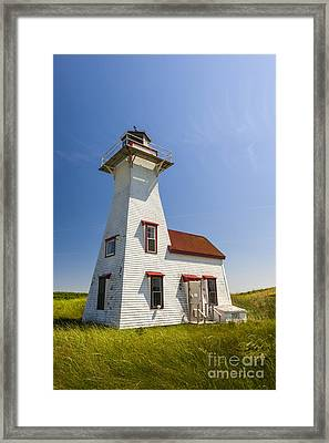 New London Range Rear Lighthouse Framed Print by Elena Elisseeva