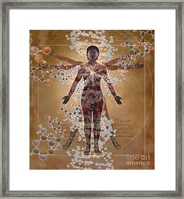 New Vitruvian Woman Framed Print by Jim Dowdalls