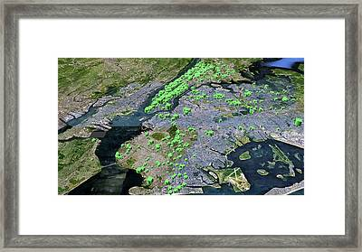 New York City Particulate Air Pollution Framed Print