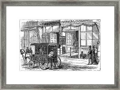 New York Wine Industry Framed Print