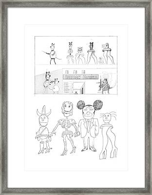 New Yorker February 24th, 1973 Framed Print by Saul Steinberg