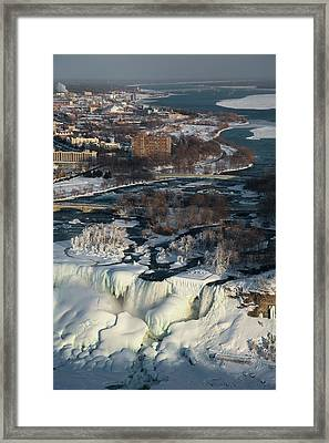 Niagara Falls In Winter Framed Print
