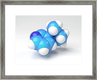 Nicotine Molecule Framed Print