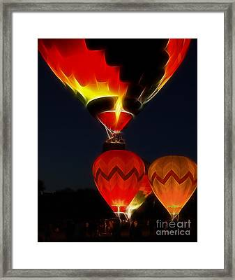Night Of The Balloons Framed Print