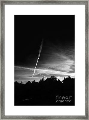 Night Sky Framed Print by Dariusz Gudowicz