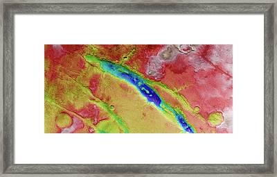 Nili Fossae Framed Print by European Space Agency/dlr/fu Berlin (g. Neukum)