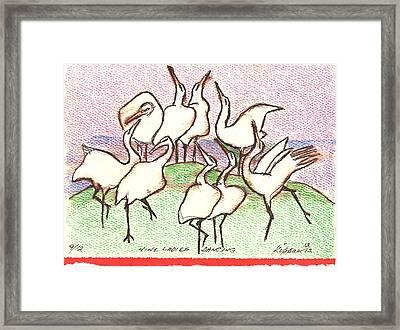 Nine Ladies Dancing Framed Print