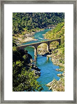 Framed Print featuring the photograph No Hands Bridge by Sherri Meyer