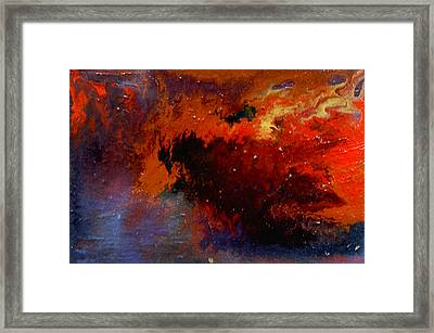 Framed Print featuring the painting No Tittle by Min Zou