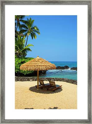 Nohea Point, Royal Kona Resort Framed Print by Douglas Peebles
