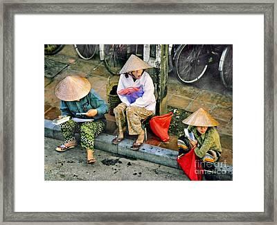 3 Non La In Hoi An-vietman Framed Print