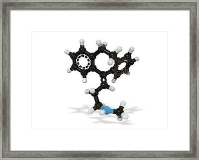 Nortriptyline Drug Molecule Framed Print