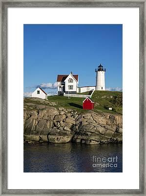 Nubble Lighthouse Framed Print by John Greim