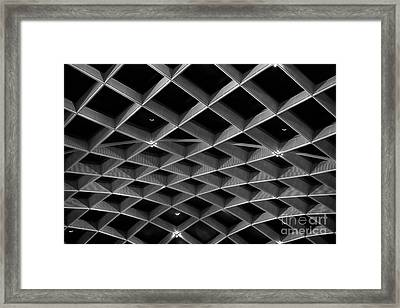 Nurb Skylight Structure Framed Print by Lynn Palmer