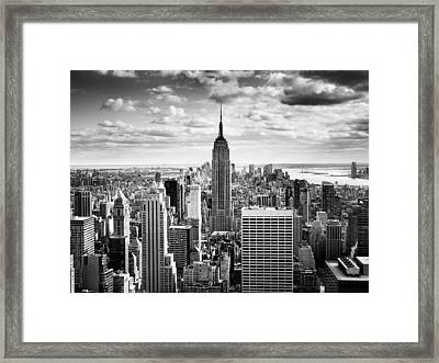 Nyc Downtown Framed Print by Nina Papiorek