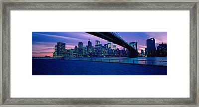 Nyc, New York City New York State, Usa Framed Print