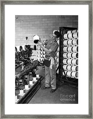 Nylon Production, 1950s Framed Print by Hagley Archive