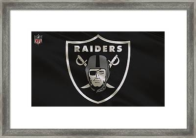 Oakland Raiders Uniform Framed Print by Joe Hamilton