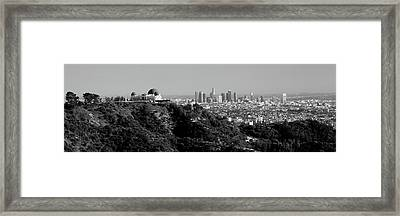Observatory On A Hill With Cityscape Framed Print