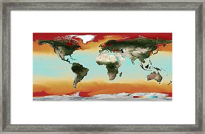 Ocean Carbonate Saturation Framed Print