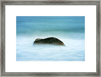 Ocean Rock Framed Print by John Greim