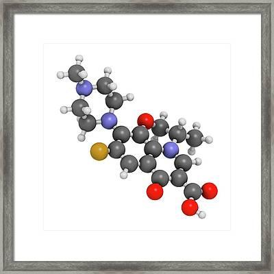 Ofloxacin Fluoroquinolone Antibiotic Drug Framed Print