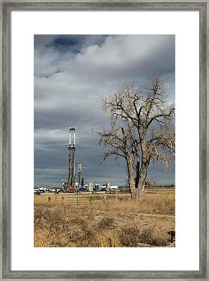 Oil Drilling Rig Framed Print