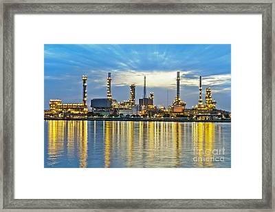 Oil Refinery Framed Print