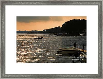 Okoboji Sunset Framed Print by Steve Krull